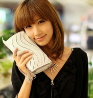 2012 wave women's candy color handbag day one shoulder cross-body clutch bag