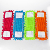 Chenille and Microfiber mop head Can be removable 40*12cm 16*5 inch 110 g not shed hair Dry remove dust and wet remove dirt