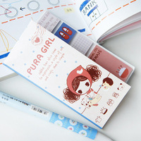 5859 stationery handle memo pad n times stickers strip-line sticky 3pcs/lot Free Shipping