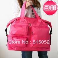 Multi-pocket portable nylon travel bag nappy large capacity shoulder bag  female luggage bags