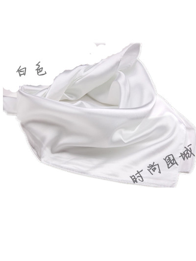 Solid color silk scarf plain scarf spring and autumn small facecloth silk scarf small white facecloth(China (Mainland))