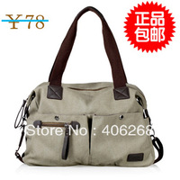 free shipping 2013 women's spring handbag rivet casual  canvas  bag portable shoulder bag