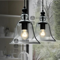 Dia 22cm Modern glass bell pendant light wholesale+free shipping PL219