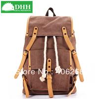 free shipping 2013 DHH fashion  canvas bag school  color block school student backpack  big  travel bag