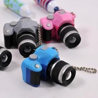 Mini digital camera vintage double camera classic slr camera keychain mobile phone chain