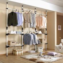 GHB-419 Steelframe Open style closet overall wardrobe coatroom aumbry combination furniture storage cabinet set(China (Mainland))