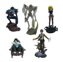 anime Death Note L Lawliet Misa PVC Figure Set of 5pcs(China (Mainland))