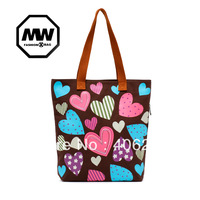 free shipping   all-match fashionable candy color Love shape casual cavans bag ladies' shoulder bag totes bag
