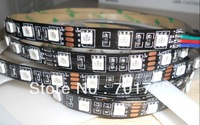 Black PCB DC12V 5m(one roll) 5050 SMD 60LEDs/m led strip,NON-waterproof,IP33