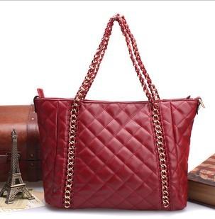 New arrived handbag 2013 plaid chains pack fashion one shoulder casual bag cowhide genuine leather women's lather-bag bag sa0109