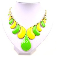 Free shipping Fashion Acrylic Color Chokers statement necklace mixed colors 10pcs/lot