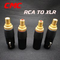 a set 4 acoustics Plug RCA adapter to XLR converter plug