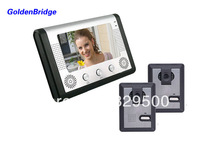 "7"" Handfree Wired Color Video Doorphone 2 to 1 ( 2 Cameras 1 Monitor)"
