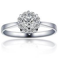 Free shipping 18 k white gold  ring effect of carat  ring  wedding ring women  certificated