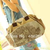 free shipping Fashion large preppy style canvas bag ladies' shoulder bag  sling bag