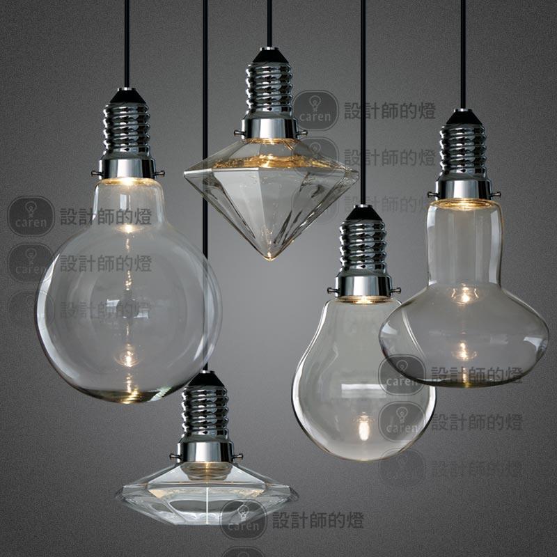 LED 3W Modern Creative Glass Pendant Lights Crystal Pendant Lamp For Bar Dini