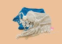 free shipping Exquisite handmade knitted all-match tassel yarn scarf fashion muffler scarf waistcoat