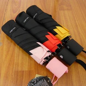 Wholesale 9pcs High quality Square double color 3-folding Automatic UV umbrella in rain and sun Free shipping