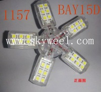 Fedex Freeshipping 1157 BAY15D 40SMD 1210 3528 Spider Lights Car LED Lighting SMD Turn Brake Tail Reverse 1156 BA15D BAY15D