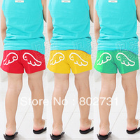 Free shipping 5pcs/lot 2013 summer small wings boys pants girls pants children's shorts pants children's trousers,kid's pants