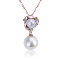 (Min order$10) Simple pearl necklace fashion jewelry 18k gold plated necklace Factory price wholesale !N520