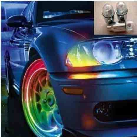 Auto supplies intelligent dual lamp car tyre colorful tire valve light valve motorcycle wheels(China (Mainland))
