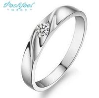Hot sale Poshfeel brand  Genuine 925 sterling silver & zircon crystal & platinum plated ladies rings women