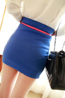 Some time candy color slim hip skirt
