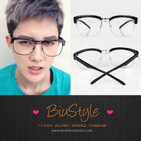 Free shipping Biu style . limited fashion vintage metal box plain glass spectacles frame glasses myopia eyeglasses frame