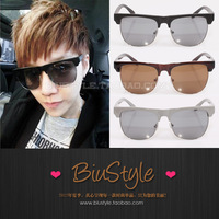 Free shipping Biu style . fashion vintage metal box star sunglasses large sunglasses sun glasses