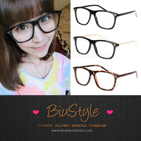 Free shipping Biu style . fashion vintage quality plate plain glass spectacles plain mirror myopia glasses frame