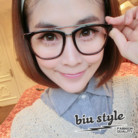 Free shipping Fashion personality 2013 the trend of fashion vintage transparent metal frame glasses plain mirror