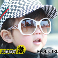 Free shipping Child glasses baby sunglasses uv400 male female child sunglasses