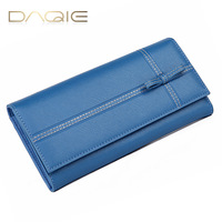 2013 women's genuine leather long wallet design Women fashion bow day clutch wallet free shipping