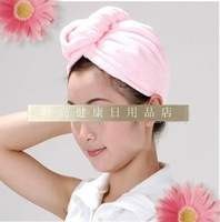 Ultrafine dry hair shower cap Large dry hair hat butterfly dry hair hat super absorbent