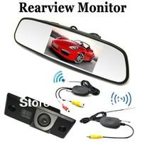 "2.4G Wireless car kit 4.3"" Car Rear View Reverse Camera for PORSCHE CAYENNE VW Volkswagen SKODA FABIA/POLO(3C)/TIGUAN/PASSAT"