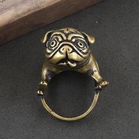 Cute animal ring brass shar pei dog, Free shipping on min. order USD 15