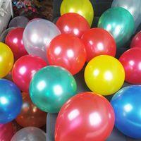 free shipping 10 inch wedding balloon decoration balloon pearlizing Large circle standard balloon 100pcs/lot