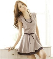 2013 summer elegant summer bandage two-color one-piece dress
