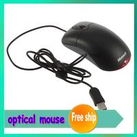 Fashion Microsoft Wheel Optical USB Compatible Mouse Black saving time+free shipping