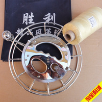 Free Shipping Baite Kite 26cm stainless steel wheel 1000m No.3 350g kevlar Kite Line + connector