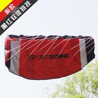 Free Shipping weifang softbody sport kite -180*60cm stunt kite  tartan cloth + line + strap