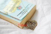 Hot Sale 6pcs Retro Vintage Silver Bronze Hollow Heart Flower Pendant Long Chain Necklace 261337