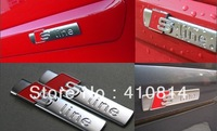 For Audi S line Sline METAL Badge Emblem Decal Sticker A3 A4 A5 A6 A7 A8 TT RS  with 3M gum