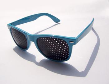 Blue fashion 605 standard pinhole glasses pinhole glasses