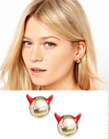 New arrival Fashion cute Little devil vs crystal eyes women's gift party costume  ear  studs earrings