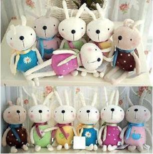 HOT ! 17cm MINI Rabbit Plush doll toy for Mobile pendant & Color Random
