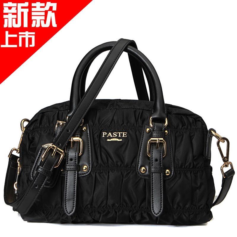 Free shipping! fashion summer handbag for women 2013, cowhide accessories patchwork canvas genuine leather handbag, DBBZ1209(China (Mainland))