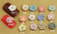 New Wholesale fashion nail art 8mm Rose ceramic flower decoration 400pcs/lot DIY nail jewelry  free shipping