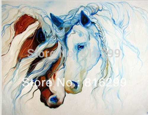 Achetez en gros cheval peinture l 39 huile en ligne des for Peinture sur fer a cheval